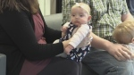 Sudbury blood drive in honour of a local baby with a blood disease encourages people to roll up their sleeves. Lyndsay Aelick reports.