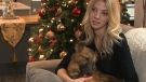 Erin Blaak holds True, a one-year-old rescue dog from Ukraine. (CTV Toronto)