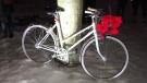 A ghost bike was installed in honour of Junfeng Wu, the cyclist killed in a December collision.