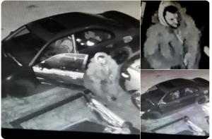 OPP hope someone can identify the suspect and vehicle wanted in connection with a theft from a Tecumseh business. (Photo: OPP)