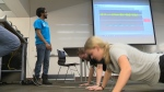 Kinesiology students show high schoolers the ropes