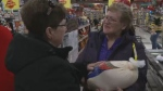 New Glasgow natives Margie and Gerald Stewart have decided to use some of their lottery winnings to give back to the community, purchasing dozens of turkeys, hams and toys for holiday shoppers.