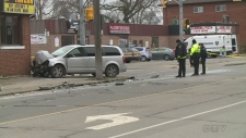 Crash at Campbell and College Avenues in Windsor