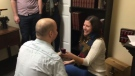 Surprise engagement at Waterloo escape room