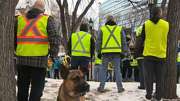 Hundreds participate in 'Yellow Vest' protests.