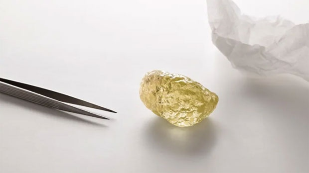 552-carat yellow diamond, largest known in North America, found in Canada
