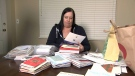Erin Schulte has received hundreds of holiday cards, which will be sent out to shelters in North America.
