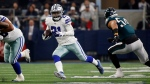 In this Sunday, Dec. 9, 2018, file photo, Dallas Cowboys running back Ezekiel Elliott (21) runs against the Philadelphia Eagles during the first half of an NFL football game in Arlington, Texas. (AP Photo/Ron Jenkins, File)