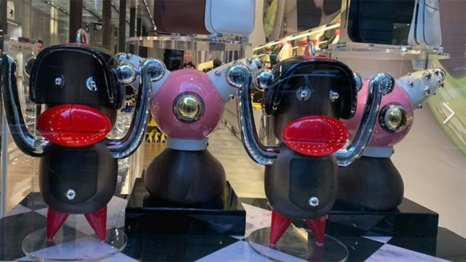 Prada has removed a holiday window display at a New York store in response to complaints that its goods featured blackface imagery. (Photo: Chinyere Ezie/Facebook)