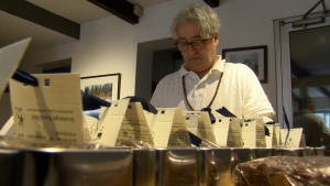 Montreal bed and breakfast owner Ken Ilasz has spent the last few months baking up a storm in his kitchen, packaging thousands of fruitcakes for customers. (CTV)