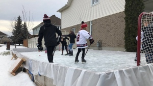 Outdoor rink in Nepean, ON