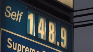 On Sunday, drivers in Metro Vancouver were paying as much as $1.48 per litre.