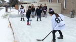 Outdoor rink put on ice