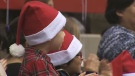 Santa Claus visits Calgary firefighters party