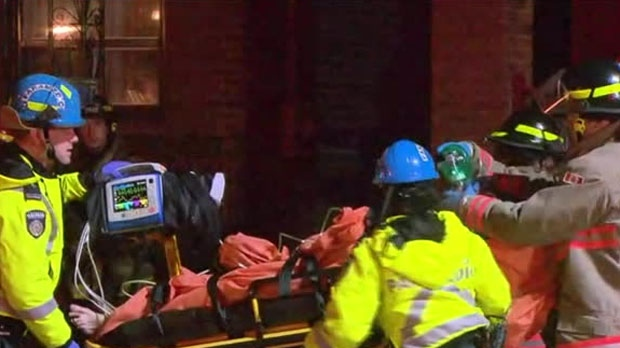 A man pulled from a house fire without vital signs in Toronto's Fairbank neighbourhood was revived by firefighters on scene.