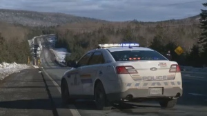 The RCMP respond to a fatal two-vehicle collision on Nova Scotia's Highway 104 in Dec. 16, 2018.