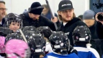 Nylander visits young hockey players