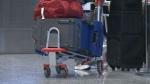 Calgary airport, baggage