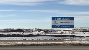 The Leduc County Amazon facility will be located on the north edge of the Nisku Business Park.