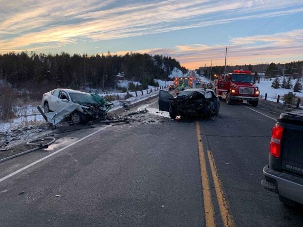 Hwy 17 crash on Sunday dec 16