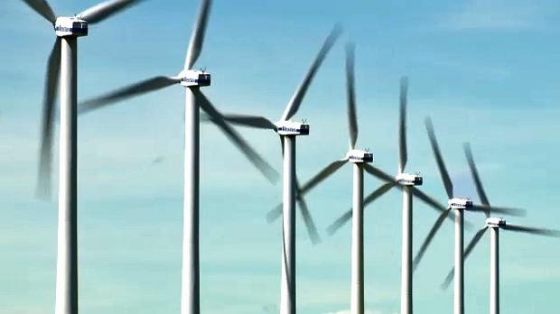 Wind farm in southern Alberta (file photo)