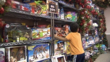 What happens after the Toy Mountain is built?