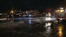 Watermain break in Hull