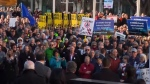 About 2700 people rallied outside Calgary City Hall on Monday, December 17, 2018 in support of Alberta's energy sector.