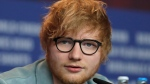 In this Friday, Feb. 23, 2018 file photo, singer-songwriter Ed Sheeran speaks during a press conference for the film 'Songwriter' during the 68th edition of the International Film Festival Berlin, Berlinale, in Berlin, Germany. (AP Photo/Markus Schreiber, FILE)