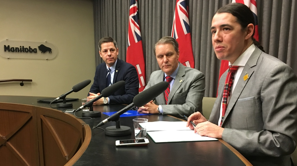 Ottawa, the Province of Manitoba and the City of Winnipeg announced the creation of a task force to tackle illicit drugs, including meth. (Source: Jamie Dowsett/CTV News)