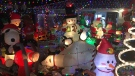 A Christmas lights display on Chiddington Avenue in London, Ont. (Julie Atchison / CTV London)