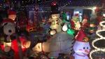A Christmas lights display on Chiddington Avenue in London, Ont. (Julie Atchison / CTV London)