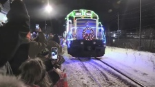 Ontario Northland's Christmas Train rolled into North Bay Monday night on its last stop in the region.