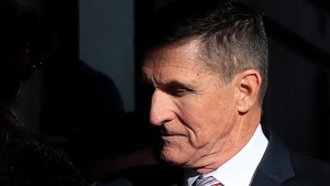 President Donald Trump's former National Security Advisor Michael Flynn who pleaded guilty to lying to the FBI about his contacts with Russia during the presidential transition, arrives for his sentencing at the U.S. District Court in Washington, Tuesday, Dec. 18, 2018. (AP Photo/Manuel Balce Ceneta)