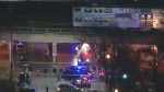 Officers killed by train during foot pursuit