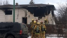 Fire seriously damaged a home in Regina on December 18, 2018. (CREESON AGECOUTAY/CTV REGINA)
