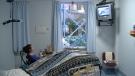 Christine Benoit in hospital room at Saint Vincent