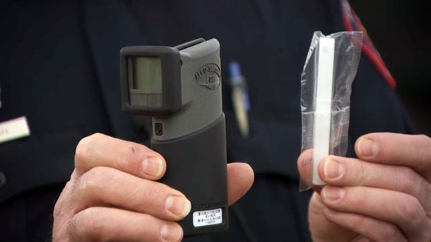 Drivers will be given instructions on how to blow into the Alcohol Screening Device (ASD).