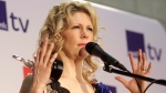 Natalie MacMaster speaks to reporters after winning the traditional instrument recording of the year award at the East Coast Music Awards in Halifax, on Sunday, March 10, 2013. (THE CANADIAN PRESS/Devaan Ingraham)