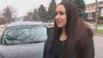 Sarah-Ashley McGrath tells CTV News Toronto that the hood of her vehicle flew open while she was driving on the highway.