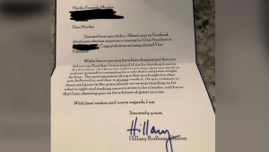Clinton encourages girl who lost class election