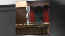 Martin Luther King Jr. delivered his sermons at the Ebenezer Baptist Church through this microphone (photo: Ian White)