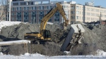Construction work on the Lebreton Flats, on Jan. 21, 2016. (Adrian Wyld / THE CANADIAN PRESS)