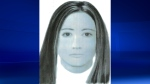 Montreal police provided this sketch of a woman in her twenties who fatally drove into a pedestrian the night of May 4, 2018