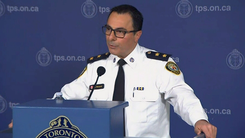 Toronto Police Insp. Dominic Sinopoli speaks during a news conference, Wednesday, Dec. 19, 2018.