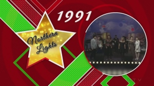 Northern Lights 1991 telethon performance with Joan Kennedy, Rodie Lafantasie, Diane Beaudry, Gary Di Salle,  Marnie Delwe, and Anita Perras.