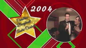 2004 CTV Lions Children's Christmas Telethon with Caroline Barghout where André Corbeil sings a French song for a challenge.