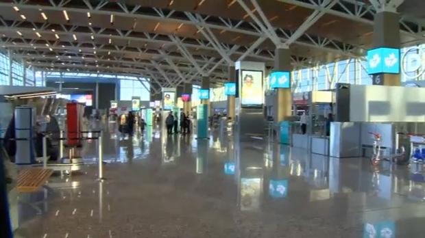 International terminal at Calgary International Airport on December 19, 2018