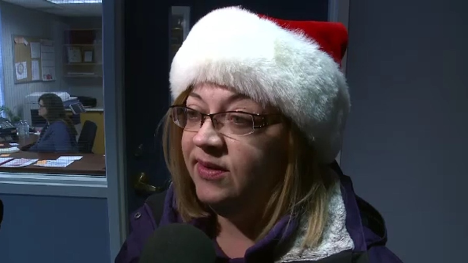 """""""It's like a Christmas miracle,"""" said former ServiCom employee Cathy Harris after the bankrupt company was bought. (CTV)"""