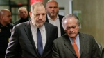 Harvey Weinstein, left, arrives at New York Supreme Court with his attorney Benjamin Brafman, Thursday, Dec. 20, 2018, in New York. (AP Photo/Seth Wenig)